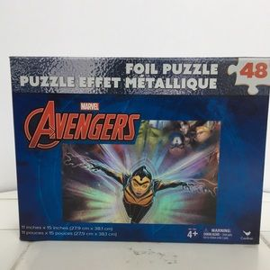 Marvel Avengers Foil Puzzle 48 pieces NEW in box